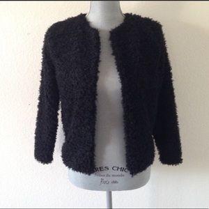 Faux Sheep Fur Sweater Jacket